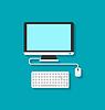 Computer PC, Tastatur und Maus
