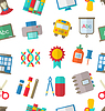 Seamless Pattern mit School Icon
