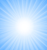 Abstract Blue Sky Background Sun Rays