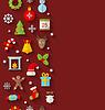 Nahtloses Muster mit Weihnachts Wohnung Icons
