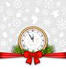 Neues Jahr Hintergrund mit Uhr