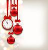 Neues Jahr schimmernden Hintergrund mit Uhr und