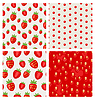 Set nahtlose Erdbeere Textur Beerenmuster