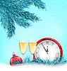 Frohes Neues Jahr Hintergrund mit traditionellen Elementen
