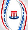Abstrakter Hintergrund mit Uncle Sams Hut für