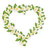 Gänseblümchen-Blumen in Form Herz