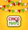 Cinco De Mayo Ferien Bunting Hintergrund. Mexikaner