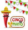 Cinco De Mayo Feiertags-Hintergrund
