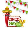 Feiertags-Feier Hintergrund für Cinco De Mayo