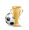 Golden Cup mit Fußball-Ball