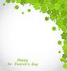 Gruß Hintergrund mit Clovers für St. Patricks