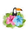Schöne exotische Natur-Hintergrund mit Toucan Vogel