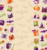 Netter Hintergrund für Halloween-Party mit bunten