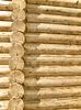 Hauswand aus Baumstämmen | Stock Foto
