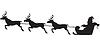 산타 클로스 순록 썰매를 타고 | Stock Vector Graphics