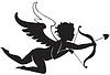 Cupido fliegt