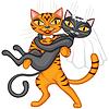 Hochzeit Katzen