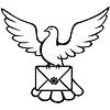 Taube mit einem Brief