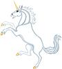 Cartoon heraldische Einhorn
