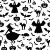 Halloween silhouette muster nahtlos