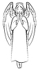 Contour betenden Engel