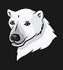 Portrait Karikatur-Eisbär