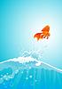 Goldfische springen