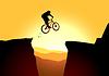 Перейти в горы на велосипедах | Векторный клипарт