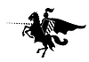 Vector clipart: Knight on horse