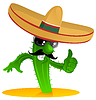 Мексиканский кактус прохладно | Векторный клипарт