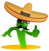 Meksykańska chłodny kaktus | Stock Vector Graphics