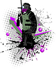 Paintball-Spieler | Stock Vektrografik