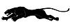 어두운 야생 고양이 | Stock Vector Graphics