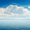 Niebieski morza i nieba nad nim | Stock Foto