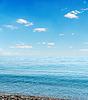 Blaues Meer und Himmel über ihm | Stock Foto