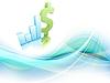 Vektor Cliparts: Wachstum Statistik finanziellen Rahmen.
