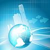 Vektor Cliparts: Immobilien Wachstumsgeschäft Rahmen.