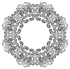 ID 3543696 | Black and white circle ornament, ornamental round | Klipart wektorowy | KLIPARTO