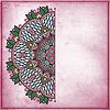 Blume Kreis-Design auf Grunge Hintergrund mit