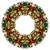 Круг орнамент, декоративные кружева вокруг | Векторный клипарт