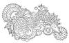 Schwarz und Weiß original hand draw line art verzierten
