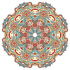 Kreis Blume Ornament, ornamental runde Spitzen-Design | Stock Vektrografik