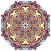 Kreis-Ornament mit dekorativen runden Spitzen