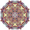 Kreis-Ornament mit dekorativen runden Spitzen | Stock Vektrografik
