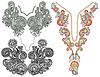 Коллекция декоративных цветочных декольте | Векторный клипарт
