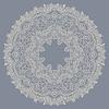 Kreis-Ornament, ornamentale runde Spitzen