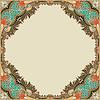 Цветочные старинных рамок | Векторный клипарт