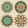 Kreis Ornament, ornamental Runde lace collection | Stock Vektrografik