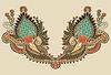 Шея вышивка мода | Векторный клипарт