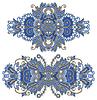 ornamentalen floralen Verzierungen